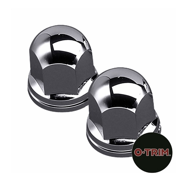 Chrome ABS Plastic Nut Caps 32mm-33mm