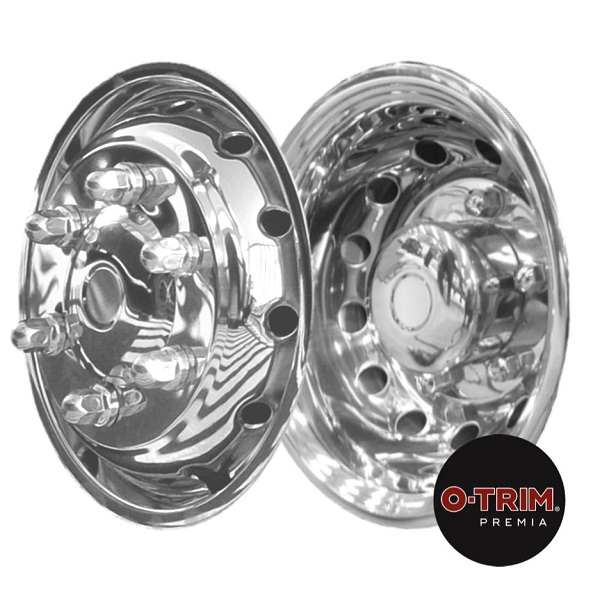O-Trim 16inch Stainless Steel Wheel Trims for Iveco Daily