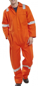 High Visibility Orange Boiler Suit