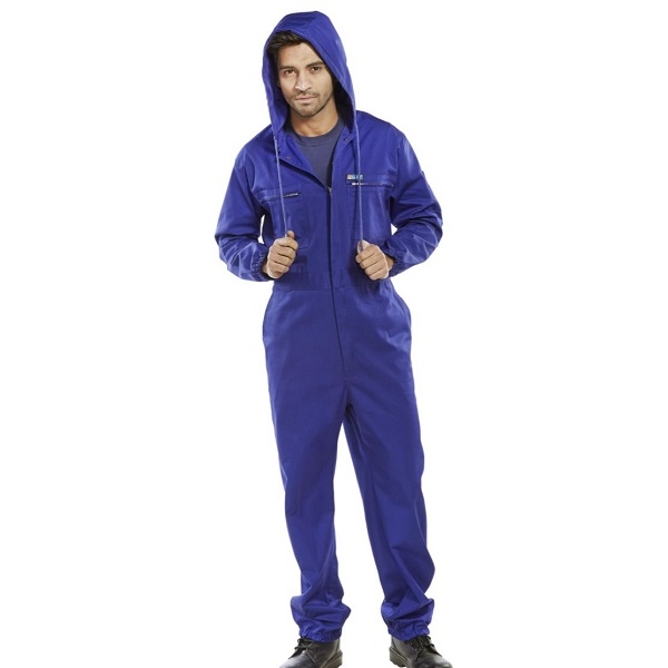 Hooded Boiler Suits Navy Chest size 36inch - 54inch