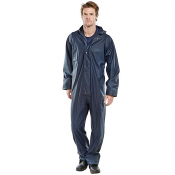 Super Waterproof Coverall PU Coated Navy or Yellow
