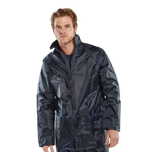 Nylon Waterproof Jacket Navy or Yellow