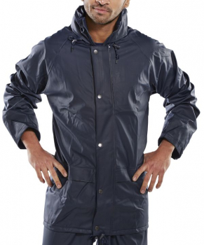 Super Waterproof Jacket PU Coated Navy or Yellow