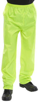 Nylon Waterproof Trousers Navy or Yellow