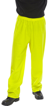 Super Waterproof Trousers PU Coated Navy or Yellow