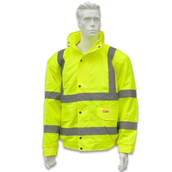 Hi Vis Bomber Jacket - Yellow XLGE 116-124cm Chest