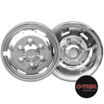 Set 4 16inchstainless steel wheel trims for Iveco Daily 170mmPCD