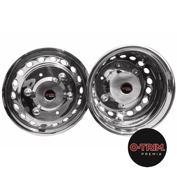 "O-Trim 16"" Stainless Steel Wheel trims for Mercedes Sprinter/Crafter(2006 on)Twin Rear Wheels"