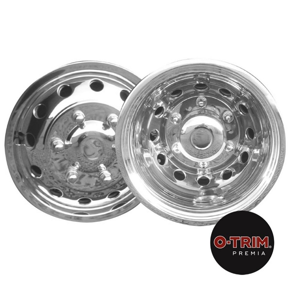 O-Trim 16 Stainless Steel Wheel trims for Ford Transit(2014 on model only)Twin Rear Wheels