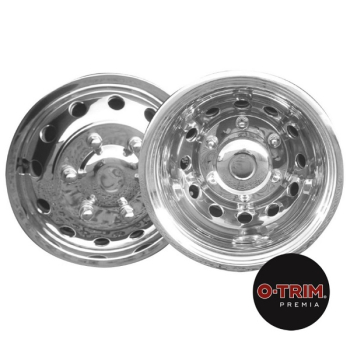 O-Trim 16Inch Stainless Steel Wheel trims for Ford Transit(2014 on model only)Twin Rear Wheels
