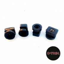 Threaded Rubber mounting block for wheel trims - Rubber only