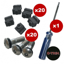 Wheel Trim Fixing Spares Kit inc. 20x Screws,20x Mounting Blocks & 1x Security Driver