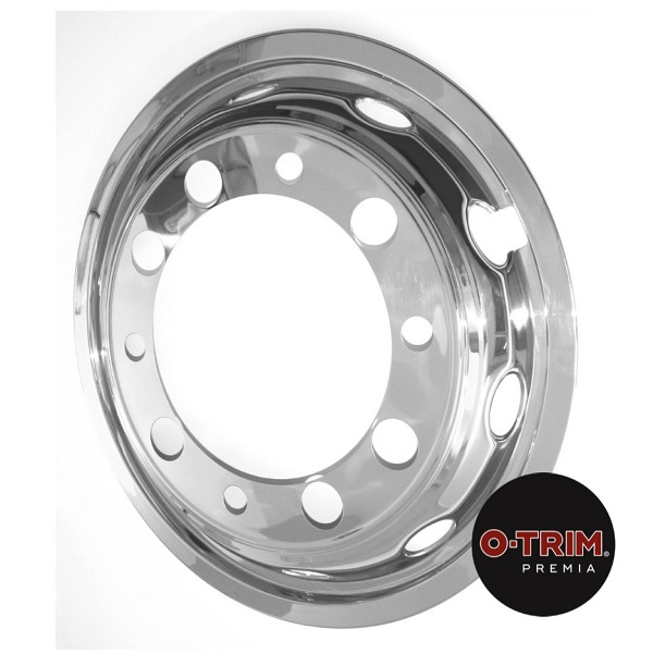 PAR-627 Pair O-Trim Premia 22.5 Stainless steel front axle liner