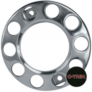 "PAR-630 Pair 10 stud nuts rings Open centre for 22.5"" (335mmPCD) Donut rings for front steel wheel"