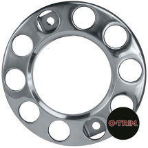 PAR-630 Pair 10 stud nuts rings Open centre for 22.5inch (335mmPCD) Donut rings for front steel wheel