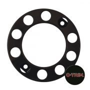 Pair 10 Stud Nut Ring in Black. 335mm PCD for Steel Wheels