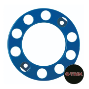 Pair 10 Stud Nut Ring in Blue. 335mm PCD for Steel Wheels