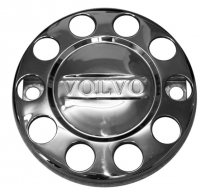 Pair VOLVO Branded 10 stud nuts rings closed centre for 22.5inch (335mmPCD) ALLOY front wheel