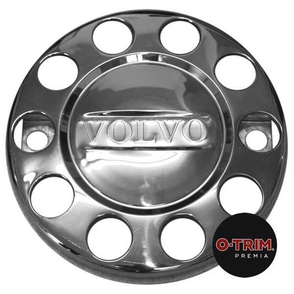 "Pair VOLVO Branded 10 stud nuts rings closed centre for 22.5"" (335mmPCD) STEEL front wheel"