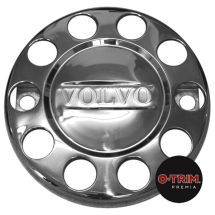 Pair VOLVO Branded 10 stud nuts rings closed centre for 22.5inch (335mmPCD) STEEL front wheel