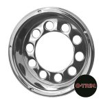 "Pair 22.5"" Stainless Steel Open Centre Scandinavian Style Rear Wheel Liners"