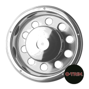 "Pair 22.5"" Stainless Steel Deep Scandinavian Style Rear Wheel Liners"