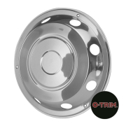 "Pair 17.5"" Stainless Steel Standard Scandinavian Style Wheel Trims - Fronts"