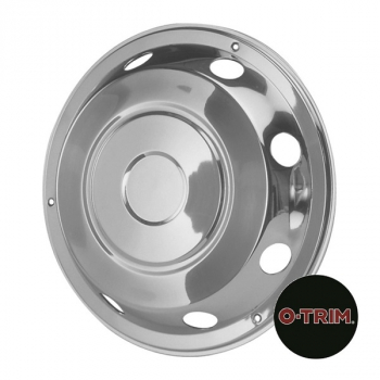 Pair 17.5Inch Stainless Steel Standard Scandinavian Style Wheel Trims - Fronts