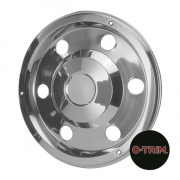 "Pair 17.5"" Stainless Steel Standard Scandinavian Style Wheel Trims - Rear"