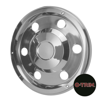 Pair 17.5Inch Stainless Steel Standard Scandinavian Style Wheel Trims - Rear