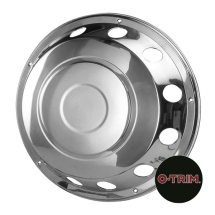 Pair 22.5inch Stainless Steel Standard Scandinavian Style Wheel Trims - Fronts