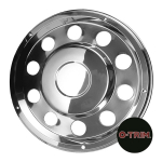"Pair 22.5"" Stainless Steel Standard Scandinavian Style Wheel Trims - Rear"