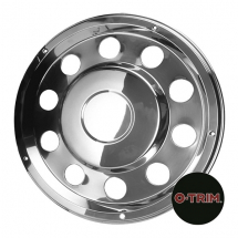 Pair 22.5inch Stainless Steel Standard Scandinavian Style Wheel Trims - Rear