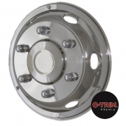 "Pair 17.5"" Stainless Steel Deluxe Style Wheel Trims - Fronts"
