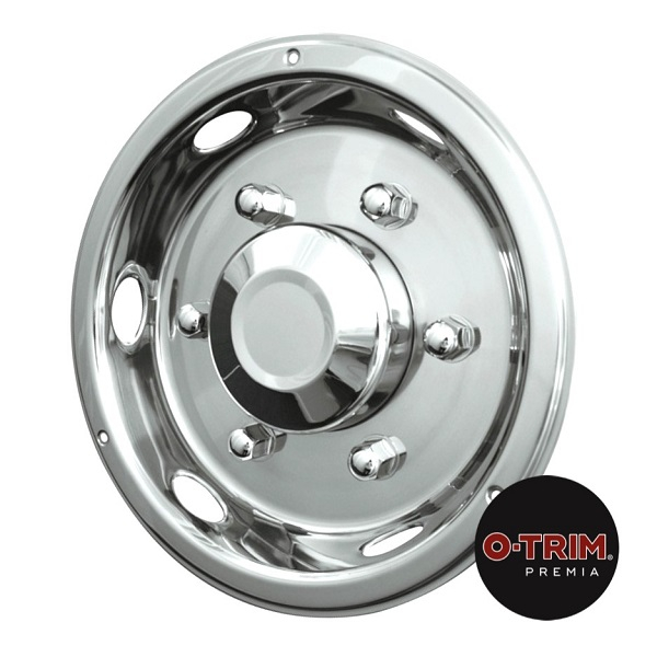 "Pair 17.5"" Stainless Steel Deluxe Style Wheel Trims - Rear"
