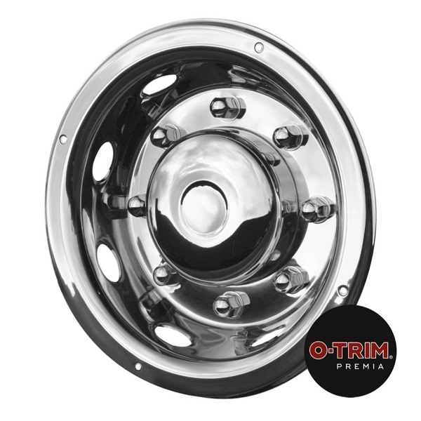Pair 19.5inch Stainless Steel Deluxe Style Wheel Trims - Rear