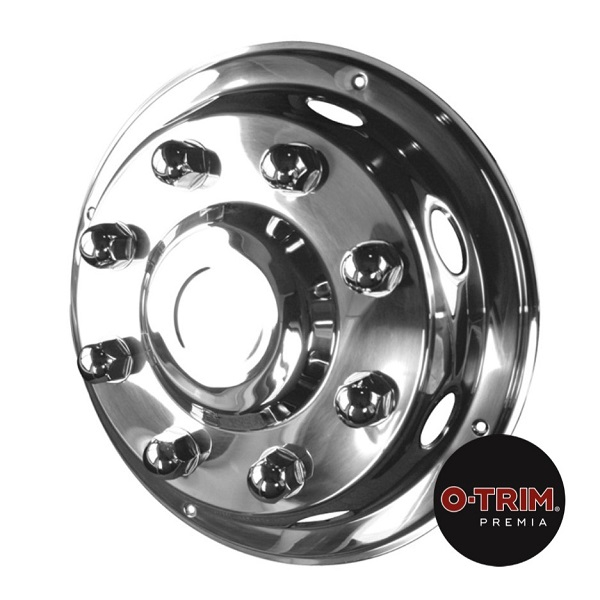 Pair 19.5inch Stainless Steel Super Deluxe Style Wheel Trims - Fronts