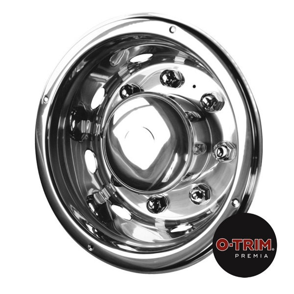 Pair 19.5inch Stainless Steel Super Deluxe Style Wheel Trims -Extra Deep  Rear
