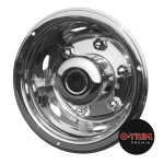"Pair 17.5"" Stainless Steel Super Deluxe Extra Deep Rear Wheel Trims"