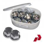 Ruspa Multifit Nut caps 32mm or 33mm for alloy or steel wheels - Chrome
