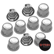 PAR-962 Stainless Steel Multi fit nut caps - 32mm/33mm for steel or alloy wheels