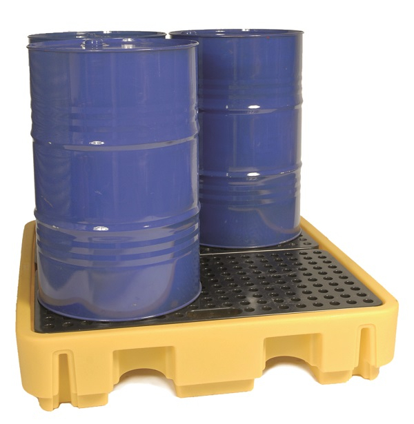 Spill Pallet for 4 x 205L yellow 138 x 129 x 28cm