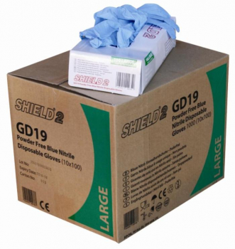 Box 100 X Large Blue Nitrile Gloves