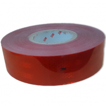 Roll Reflective Conspicuity Tape - Red 50mm X 50 Metre