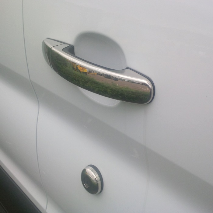 Set 4 Ford Transit Chrome Door Handles 2014+