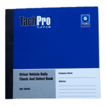 50 page Duplicate Vehicle Daily Check & Defect Book