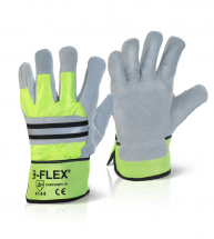 Pair Canadian Rigger Gloves Reflective High Viz High Quality