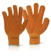 Pair Orange Criss Cross Gloves